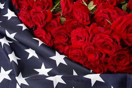 american flag roses