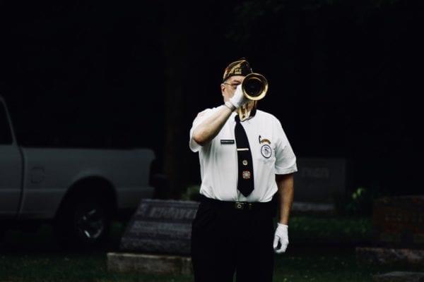 funeral taps bugler